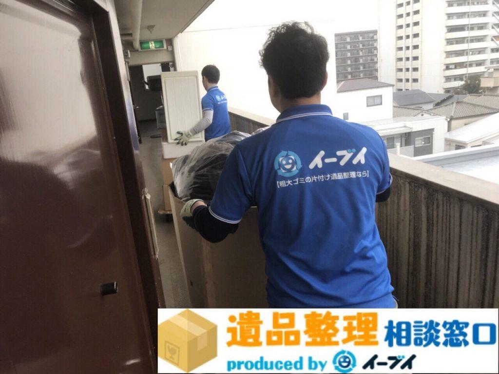 2018年3月11日大阪府泉南市で遺品整理に伴い大型家具や電化製品を処分しました。写真2