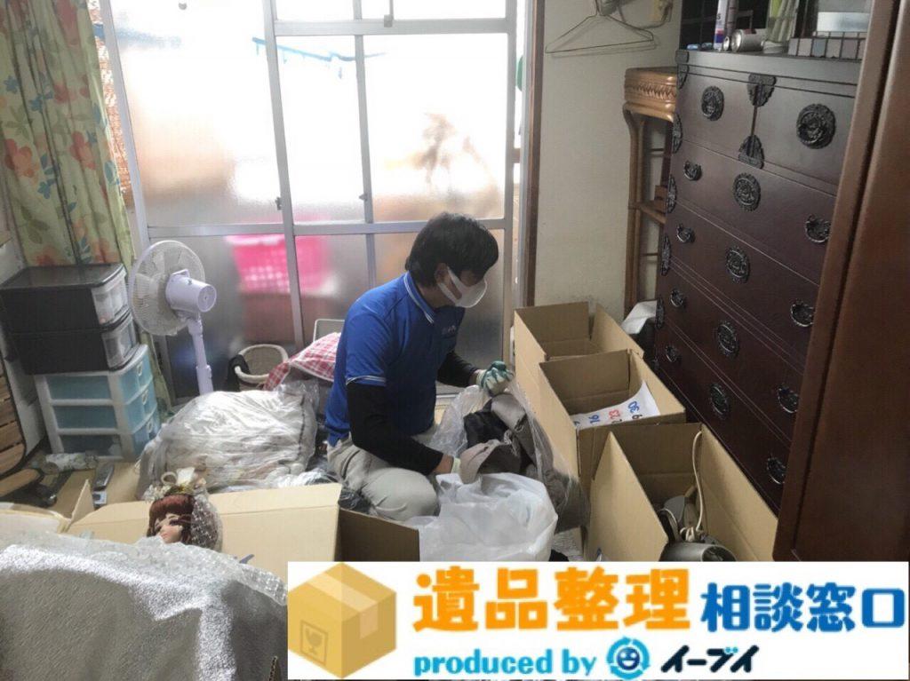 2018年3月11日大阪府泉南市で遺品整理に伴い大型家具や電化製品を処分しました。写真1