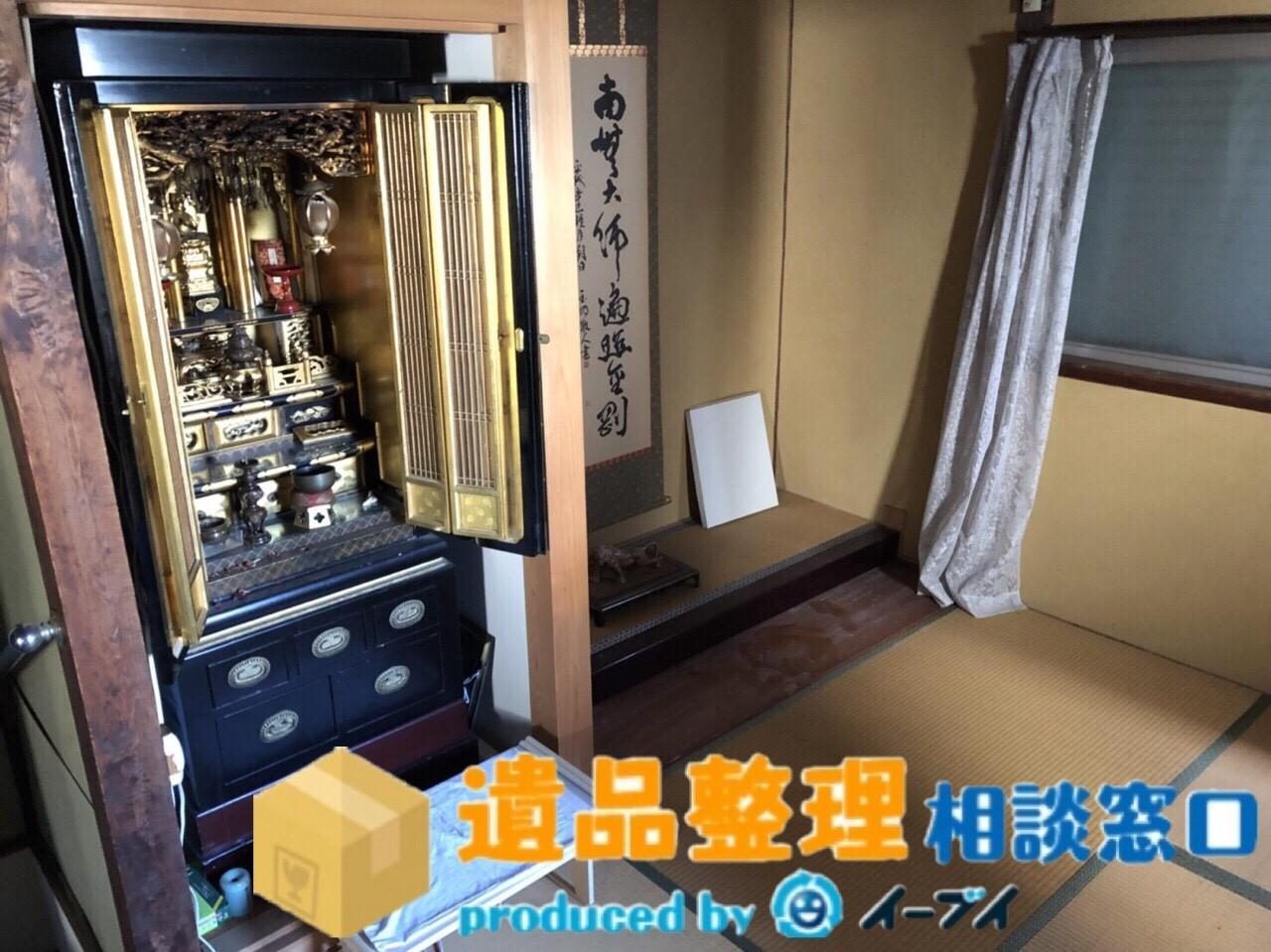 兵庫県川西市で遺品尻整理に伴い、箪笥の処分や仏壇の合同供養のご依頼をいただきました。のアイキャッチ
