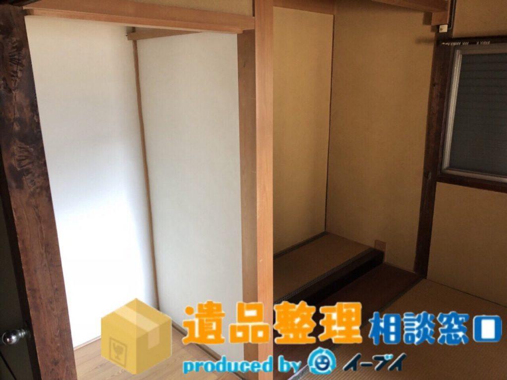 2018年8月23日兵庫県川西市で遺品尻整理に伴い、箪笥の処分や仏壇の合同供養のご依頼をいただきました。写真3