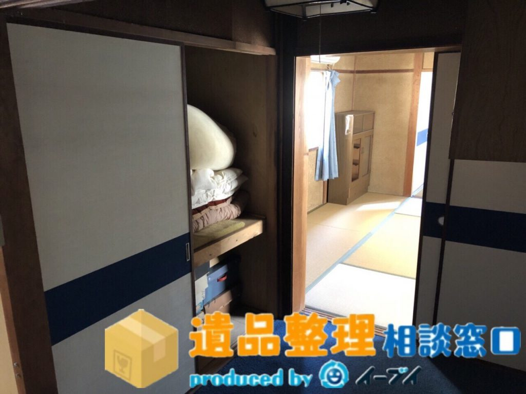 2018年8月23日兵庫県川西市で遺品尻整理に伴い、箪笥の処分や仏壇の合同供養のご依頼をいただきました。写真2