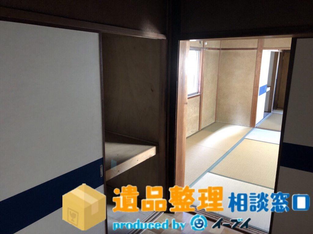 2018年8月23日兵庫県川西市で遺品尻整理に伴い、箪笥の処分や仏壇の合同供養のご依頼をいただきました。写真1