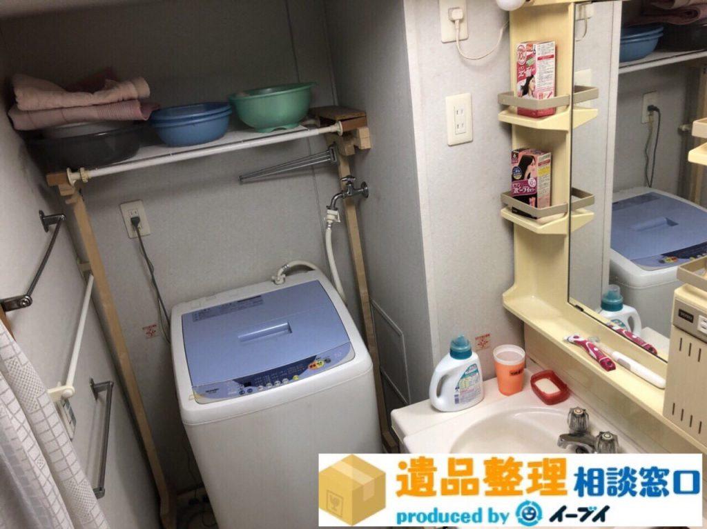 2018年8月19日大阪府豊中市で生前整理に伴い洗濯機や台所の片付け。写真4