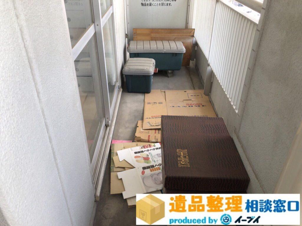 2018年8月20日大阪府枚方市で生前整理に伴いベランダの廃品の処分。写真2
