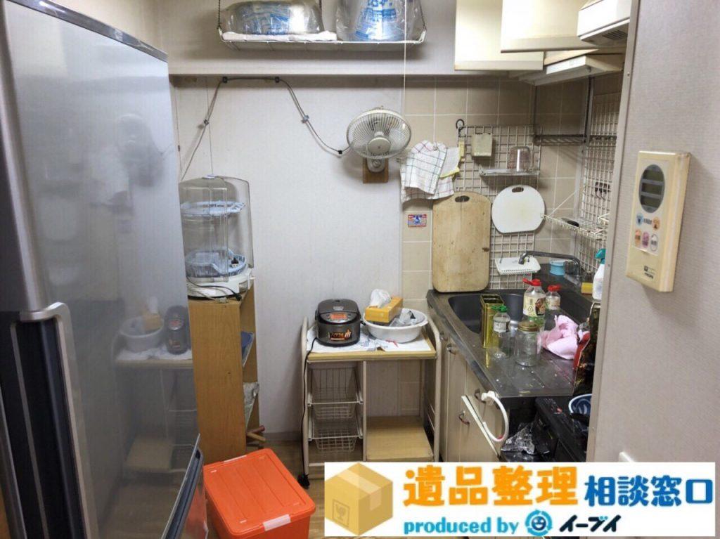 2018年8月19日大阪府豊中市で生前整理に伴い洗濯機や台所の片付け。写真2