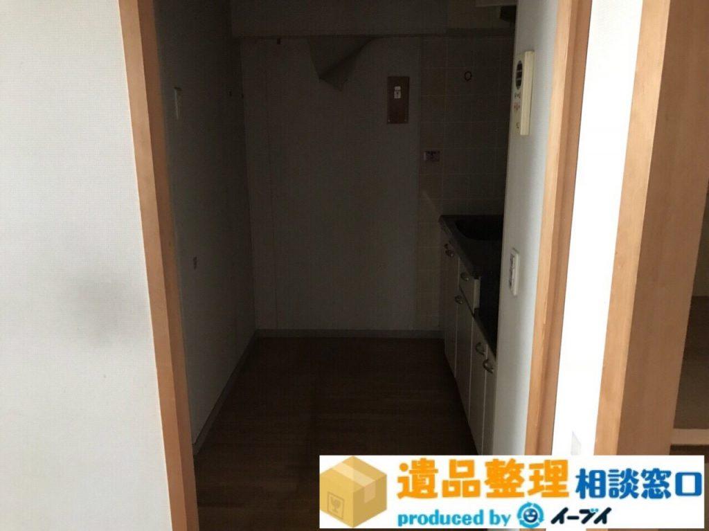 2018年8月19日大阪府豊中市で生前整理に伴い洗濯機や台所の片付け。写真1