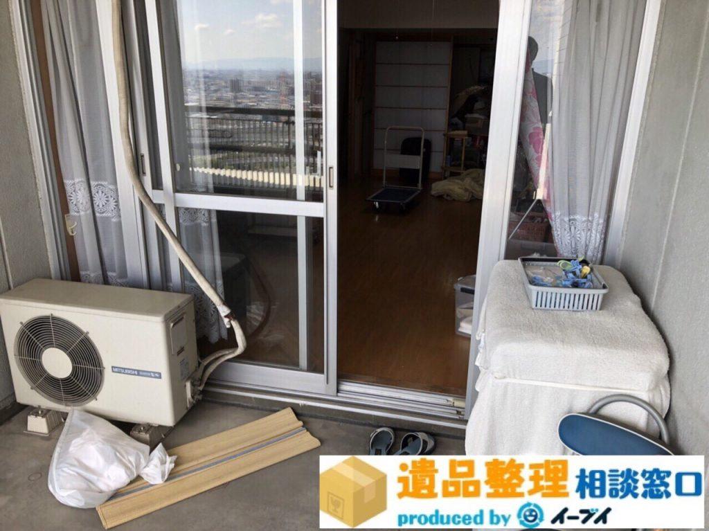 2018年8月20日大阪府枚方市で生前整理に伴いベランダの廃品の処分。写真6