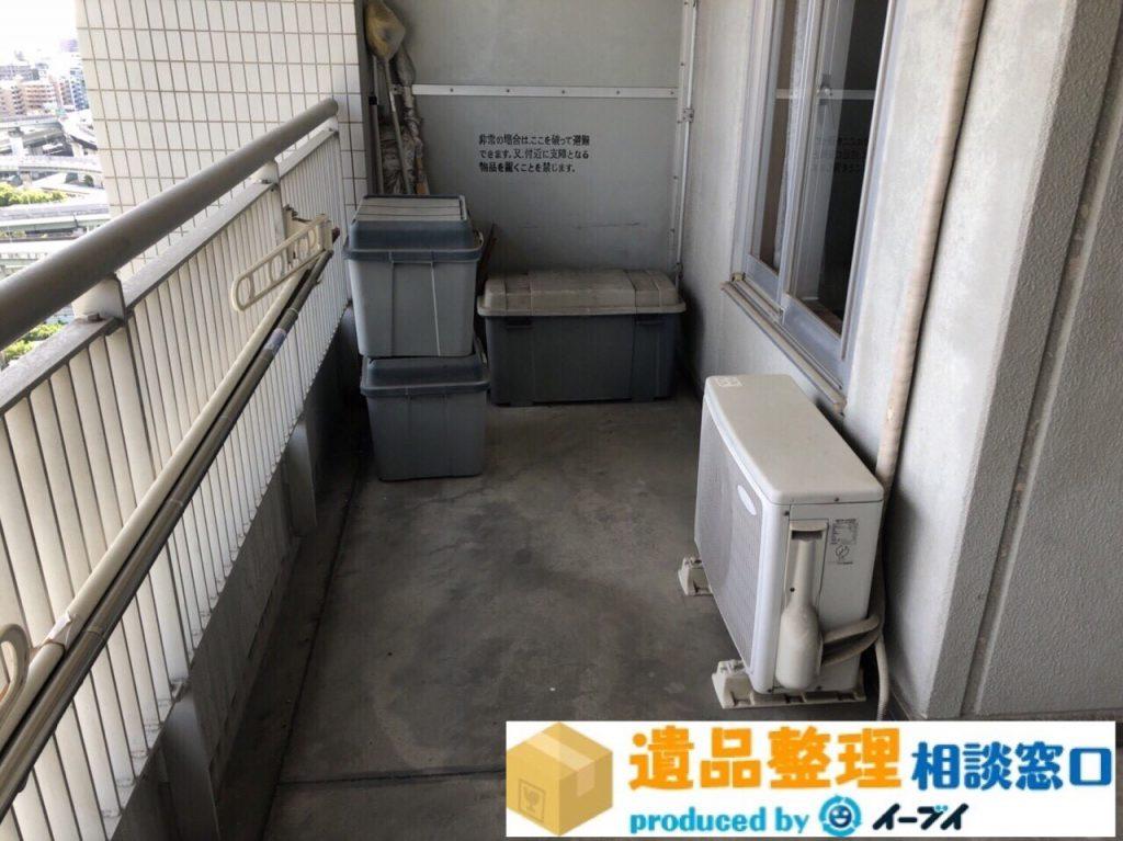 2018年8月20日大阪府枚方市で生前整理に伴いベランダの廃品の処分。写真4